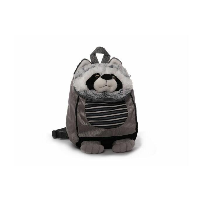 Kinderrucksack Tier-Rucksack Kindertasche süßes Design Waschbär grau