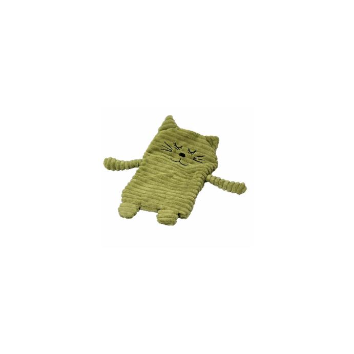 Wärmekissen Wärmetier Körnerkissen Heizkissen Katze dunkelgrün