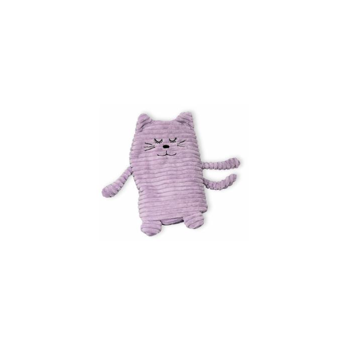 Wärmekissen Wärmetier Körnerkissen Heizkissen Katze flieder 17x26cm