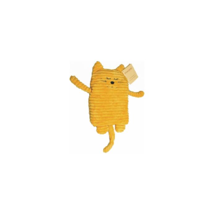 Wärmekissen Wärmetier Körnerkissen Heizkissen Katze gelb 17x26cm