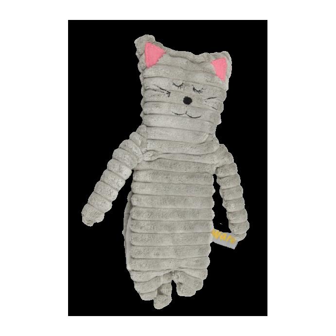 Wärmekissen Wärmetier Körnerkissen Heizkissen Katze schmal grau