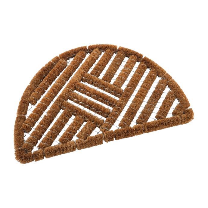 Redecker Fußabstreifer Fußmatte aus Kokosfasern Halbmondform gestreift