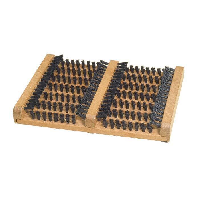 Redecker Fußabtreter mit Seitenleisten aus Buchenholz und Rosshaar