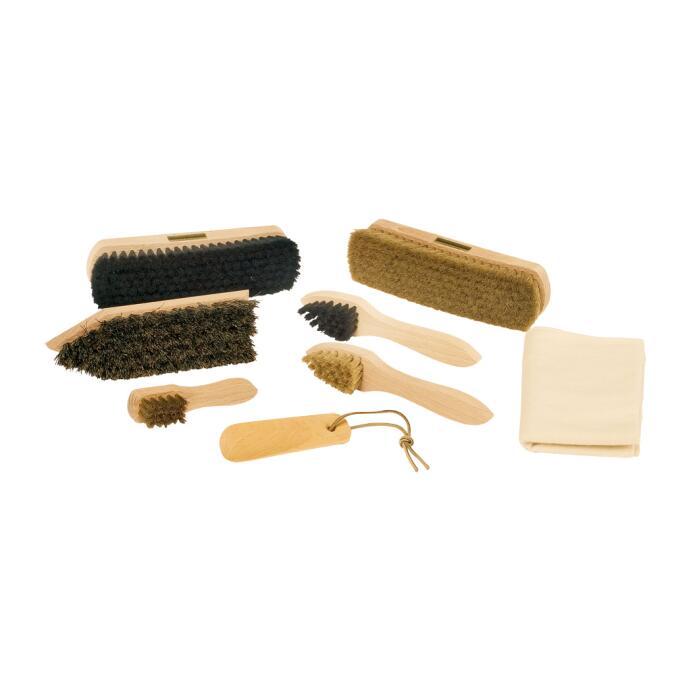 Redecker Reinigunsset Schuputz Set klein in einer Metallbox mit Deckel