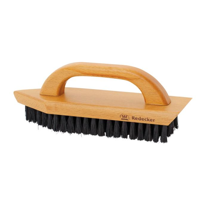 Redecker Schuhschmutzbürste mit Bügelgriff aus gewachstem  Buchenholz