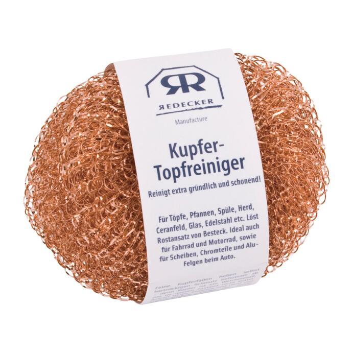 Redecker Kupfer Topfreiniger Kupferlappen Kupfer Kupferschwamm 2er Pack