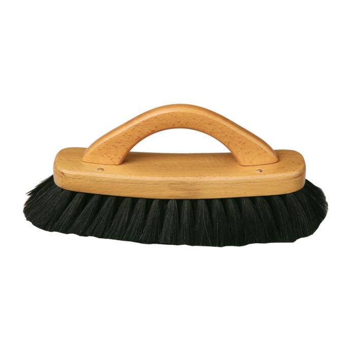 Redecker Schuh Glanzbürste Griff Ziegenhaar schwarz oder weiß