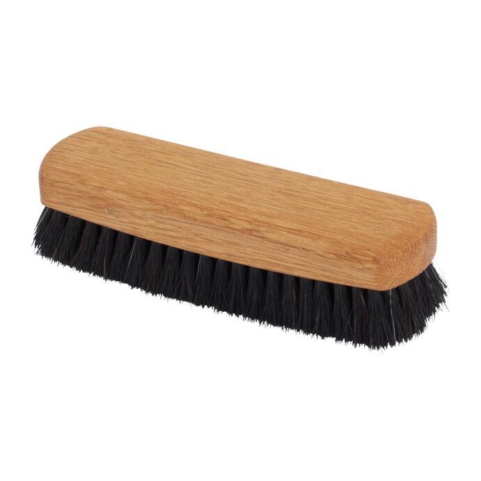 Redecker Schuh Glanzbürste Rosshaar geöltes Eichenholz dunkel 16 cm