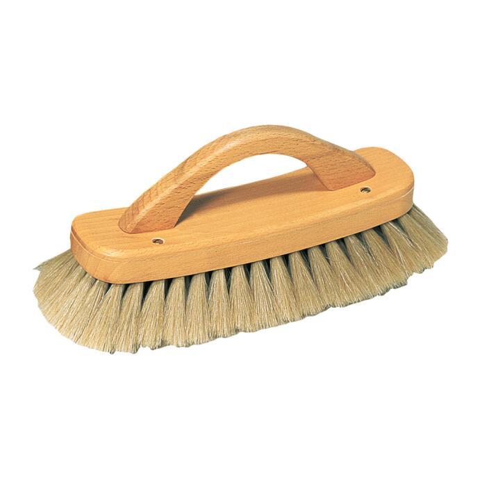 Redecker Schuh Glanzbürste mit Bügelgriff Rosshaar hell aus Buchenholz