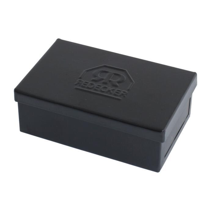 Redecker Seifenkästchen eckig klein Metall schwarz