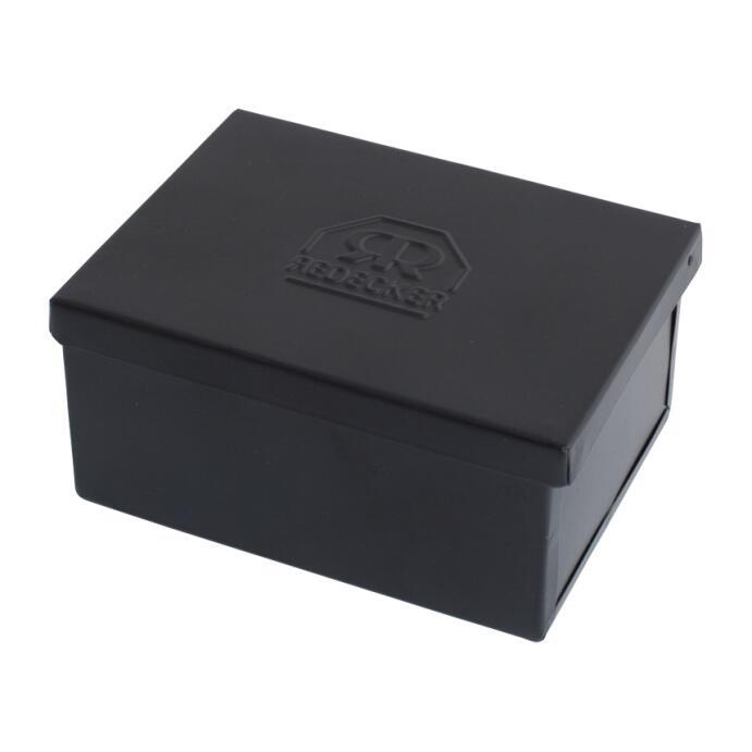 Redecker Seifenkästchen eckig groß Metall schwarz