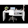 Schreibtisch Fast Trade weiss 120 cm Tisch Laptoptisch Wohnzimmertisch Sideboard