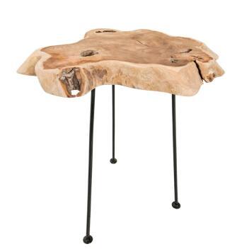 Beistelltisch Wild Teakholz 40cm Wohnzimmertisch Esszimmertisch Kommode Tisch