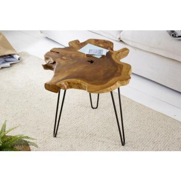 Beistelltisch Wild Teakholz 55cm Esszimmertisch Wohnzimmertisch Tisch Kommode
