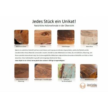 Konsole Iron Craft 115 cm grau Mango Highboard Beistelltisch Kommode Holz
