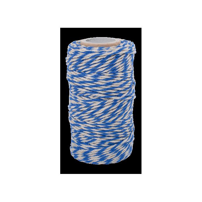 Redecker Flachsgarn für Küche & Basteln blau natur 55m