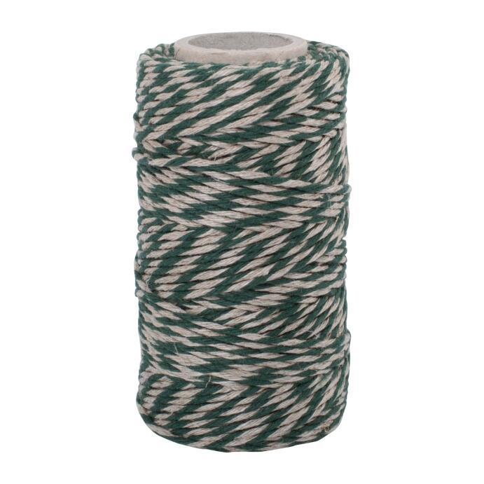 Redecker Flachsgarn für Küche & Basteln grün natur 55m
