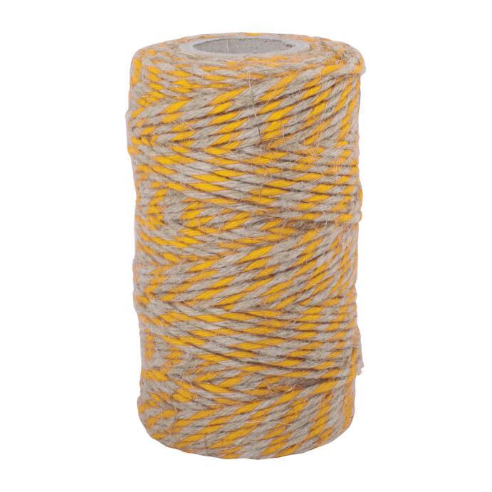 Redecker Flachsgarn für Küche & Basteln gelb natur 55m