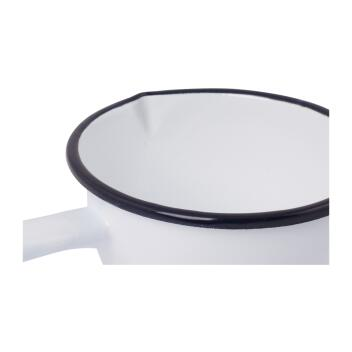 Redecker Stielkasserolle Emaille weiß Ø 13,5 cm