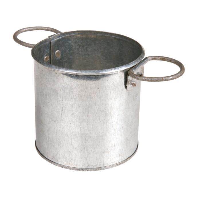 Redecker Köcher verzinktes Metall rund Ø 11 cm