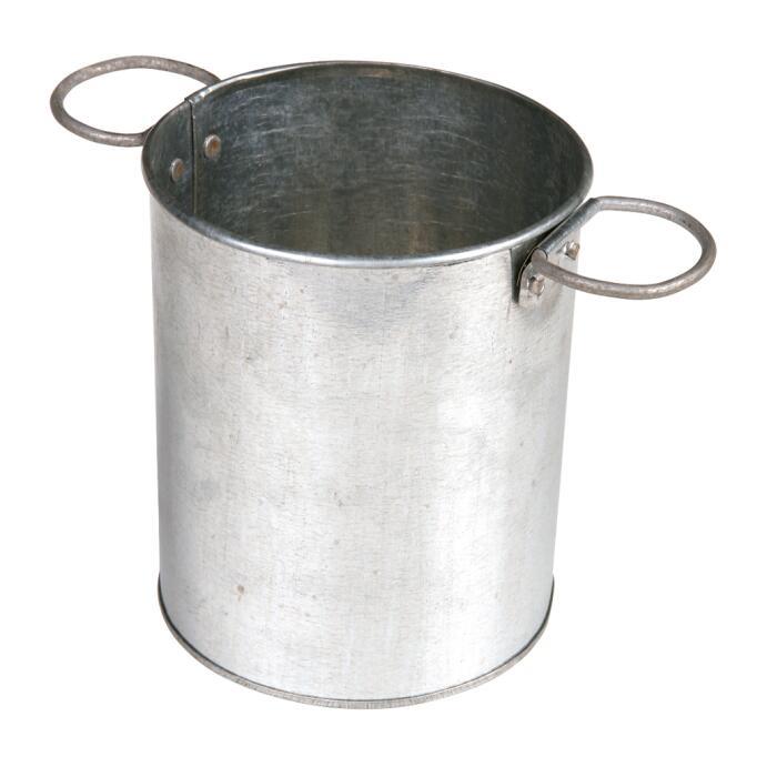 Redecker Köcher verzinktes Metall rund Ø 12,5 cm