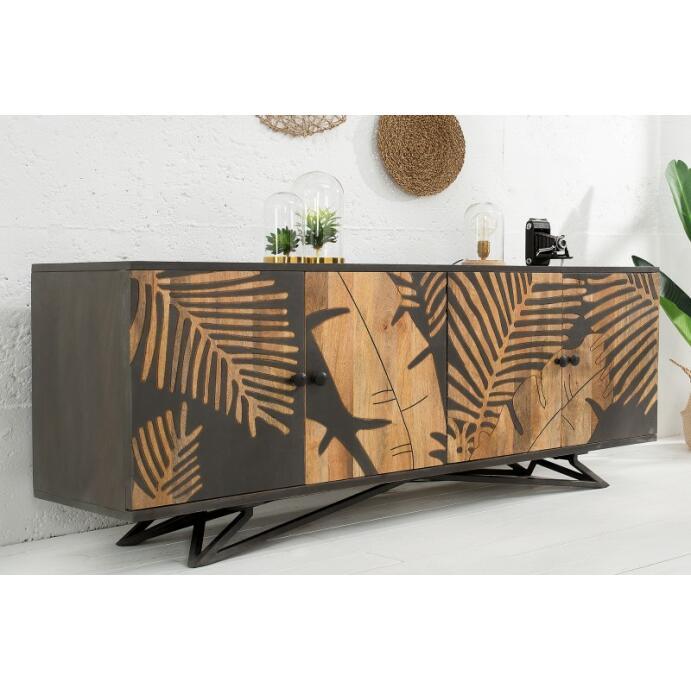 Sideboard Kommode TROPICAL Mango Massivholz Lowboard Fernsehschrank TV