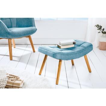 Hocker Sitzhocker SCANDINAVIA Holz 63 cm hellblau Sitzbank Wohnzimmerhocker