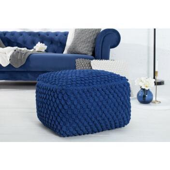 Pouf Sitzpouf COSY 1 55 cm dunkelblau aus Strick...