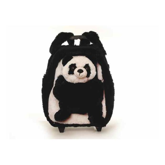 Inware Kindertasche Plüschtier Trolley Pandabär