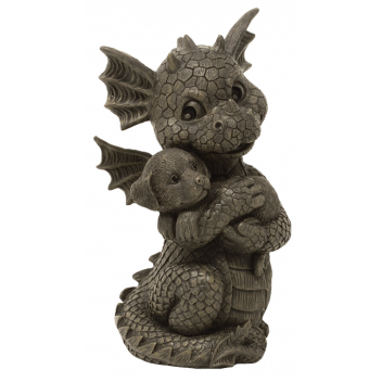 Gartendrache Puppy Gartenfigur Drachenfigur Polyresin Geschenkidee Deko handbemalt