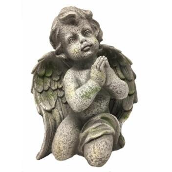 Engel Betend Gartenfigur Engelsfigur handbemalt Polyresin...
